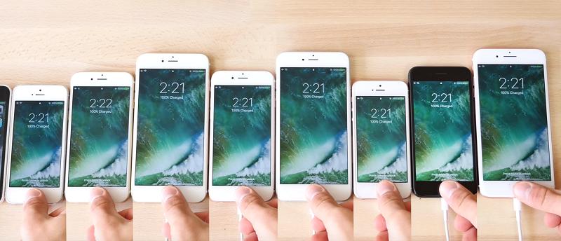 各代 iPhone 的 Touch ID 速度測試
