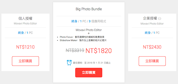 Movavi Photo Editor 完全版售價