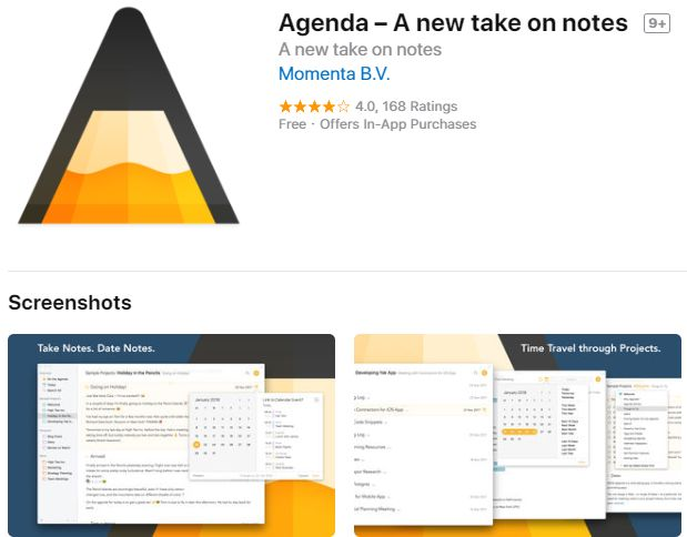Agenda – A new take on notes